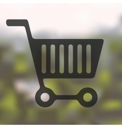 Shopping icon on blurred background vector