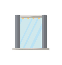 shower cabin isolated icon in flat style vector image