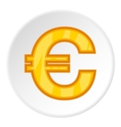 Sign of money euro icon cartoon style vector image