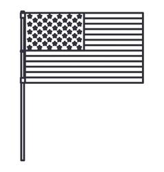 Silhouette usa flag design vector