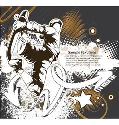 skater background vector image vector image