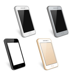 Smartphone cell phone collection vector image