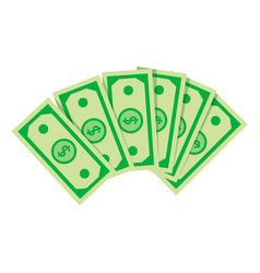 stack dollars business financial and vector image