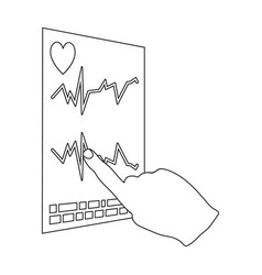 Studying the cardiogram of the heart medicine vector