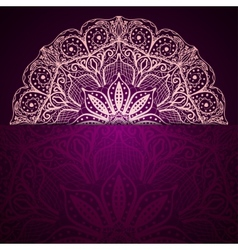 Stylish purple background with a light circular vector image