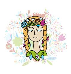 summer girl sketch for your design vector image