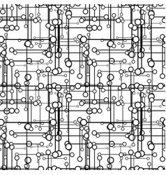technology pattern seamless black and white vector image