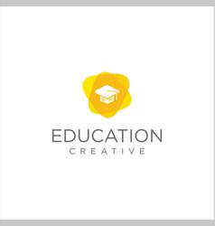 toga hat education logo design stock vector image
