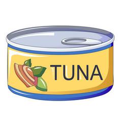 Tuna tin can icon cartoon style vector
