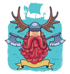 Viking Portrait vector image