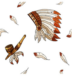warbonnet on white background rough festival vector image
