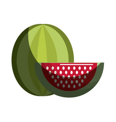 Watermelon fruit icon stock vector