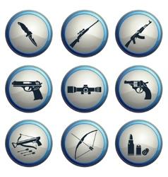 Weapon symbols vector image