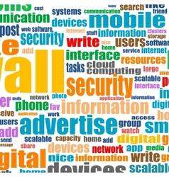 Word cloud tags concept of social media vector