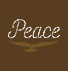 Peace typography vector
