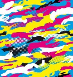 pop art camouflage vector image