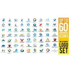 Business Corporate Logo Set vector image