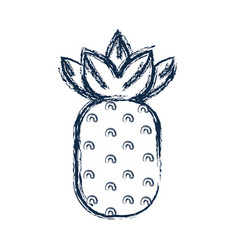 Figure delicious pineapple fruit to healthy life vector