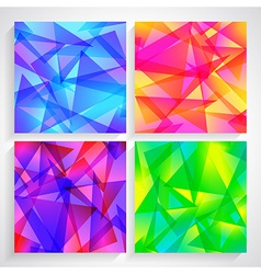 Fractal Abstract Background set of fractal vector image vector image