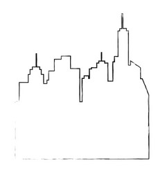 isolated city landscape vector image
