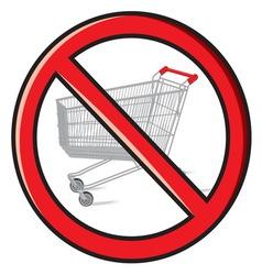 No shopping vector image
