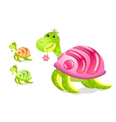 turtle with rss sign on its shell vector image