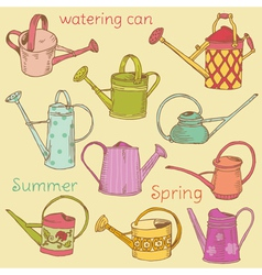 Watering Can Collection vector image vector image