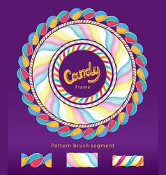 candy frame set vector image