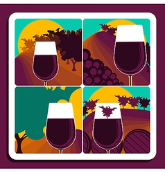 Viticulture and wine vector image