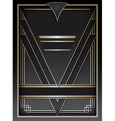 Art Deco Background and Frame vector image vector image