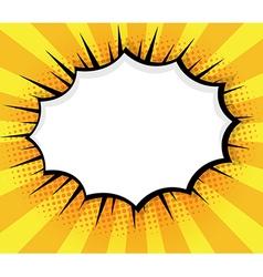 Blank Speech Bubble Pop Art Comic Book vector image vector image