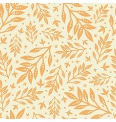 Golden leaves seamless pattern background vector image