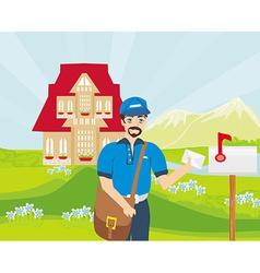 Happy Postman vector image