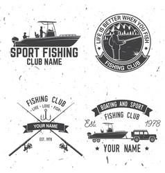 sport fishing club vector image