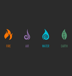 Abstract four elements symbols vector