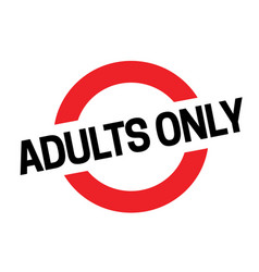 Adult only sticker vector
