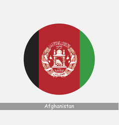 Afghanistan round flag vector