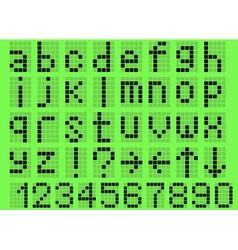 Alphabet lowercase vector image
