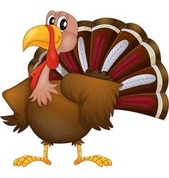 An angry turkey vector