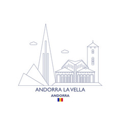 Andorra la vella city skyline vector