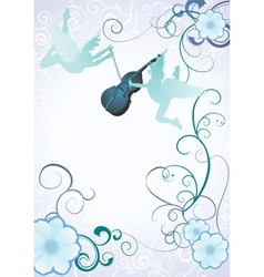 angels violin vector image