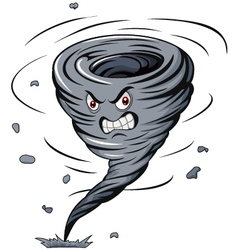 Angry cartoon tornado vector