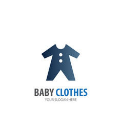 Baby clothes logo for business company simple vector