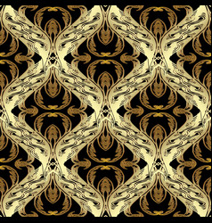 Baroque gold seamless pattern antiqu vector