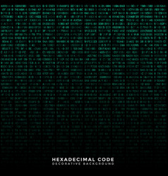 binary code hex background vector image