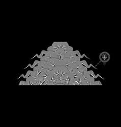 Black and white design pattern with optical vector