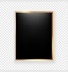black picture frame on a wall isolated on vector image