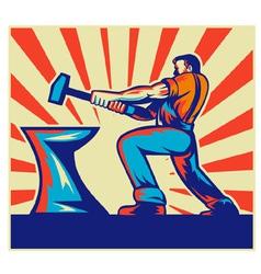 blacksmith hammer vector image