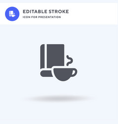book icon filled flat sign solid vector image