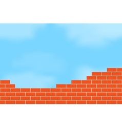 Brickwork against the sky vector